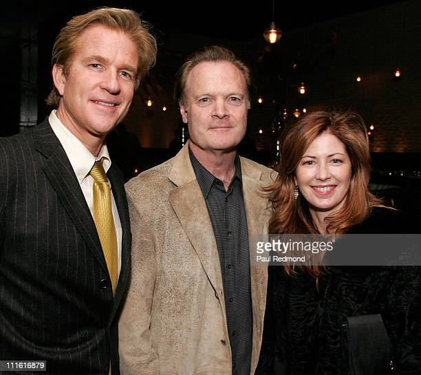 Actor Matthew Modine producer Lawrence O'Donnell and actress Dana Delany at LIVEstyle Entertainment Supper Club at STK LA celebrating Fox Searchlight...