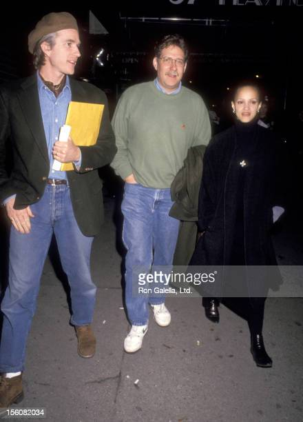 Actor Matthew Modine wife Caridad Rivera and Actor Richard Masur attend the 'Bodies Rest Motion' New York City Premiere on April 7 1993 at 57th...