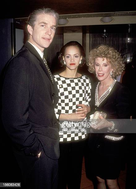 Actor Matthew Modine wife Caridad Rivera and Comedienne Joan Rivers attend Joan Rivers' New York City Viewing Party for the 64th Annual Academy...