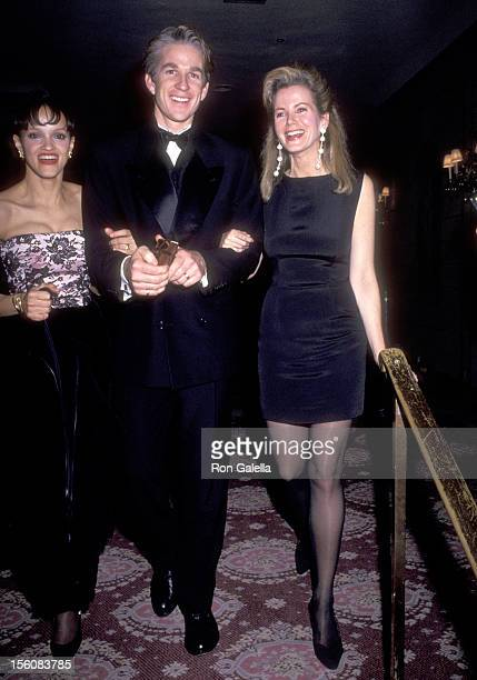 Actor Matthew Modine, wife Caridad Rivera, and Socialite Blaine Trump attend the 'Awakenings' New York City Premiere Party on December 17, 1990 at...