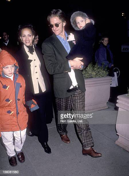 Actor Matthew Modine wife Caridad Rivera son Boman Modine and daughter Ruby Modine attend 'The Nutcracker' New York City Premiere on November 21 1993...