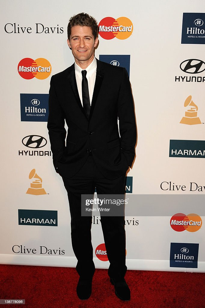 Actor Matthew Morrison arrives at Clive Davis and the Recording Academy's 2012 Pre-GRAMMY Gala and Salute to Industry Icons Honoring Richard Branson held at The Beverly Hilton Hotel on February 11, 2012 in Beverly Hills, California.