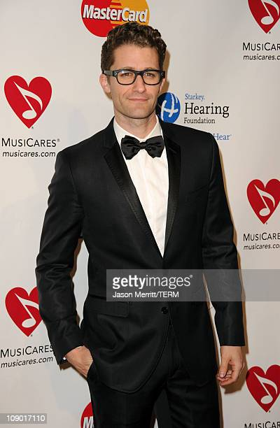 Actor Matthew Morrison arrives at the 2011 MusiCares Person of the Year Tribute to Barbra Streisand held at the Los Angeles Convention Center on...