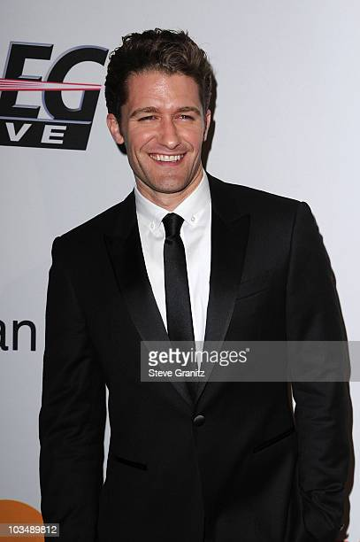 Actor Matthew Morrison arrives at the 52nd Annual GRAMMY Awards Salute To Icons Honoring Doug Morris held at The Beverly Hilton Hotel on January 30...