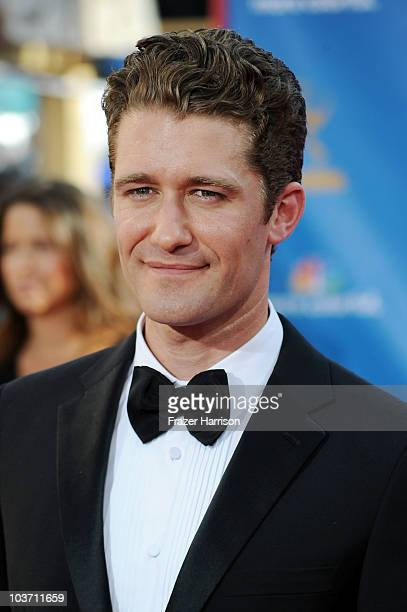 Actor Matthew Morrison arrives at the 62nd Annual Primetime Emmy Awards held at the Nokia Theatre LA Live on August 29 2010 in Los Angeles California