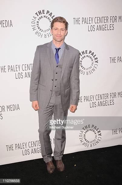 Actor Matthew Morrison arrives at the Paley Center for Media's Paleyfest 2011 Event honoring Glee at the Saban Theatre on March 16 2011 in Beverly...