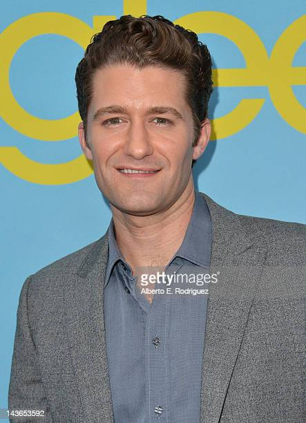 Actor Matthew Morrison arrives to The Academy of Television Arts Sciences' screening of Fox's Glee at Leonard Goldenson Theatre on May 1 2012 in...