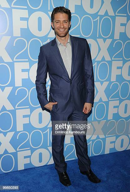 Actor Matthew Morrison attends the 2010 FOX Upfront after party at Wollman Rink Central Park on May 17 2010 in New York City