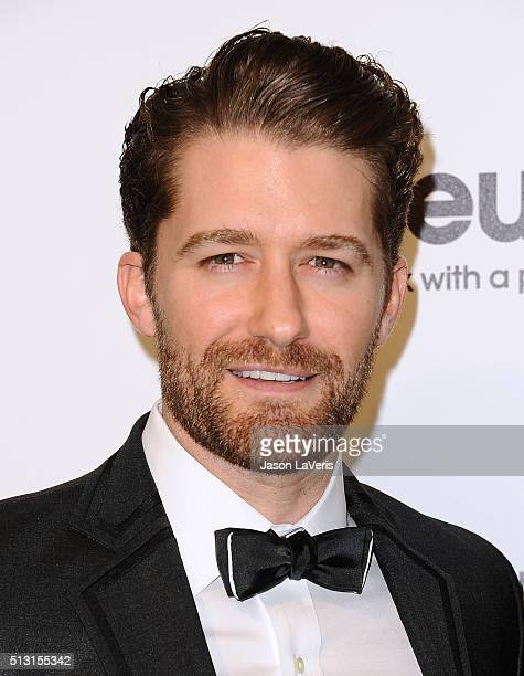 Actor Matthew Morrison attends the 24th annual Elton John AIDS Foundation's Oscar viewing party on February 28, 2016 in West Hollywood, California.