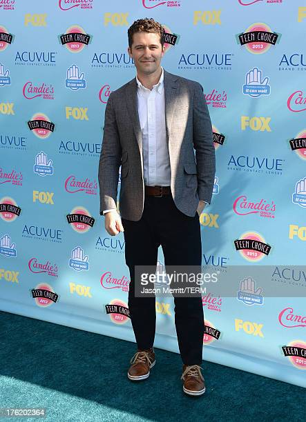 Actor Matthew Morrison attends the Teen Choice Awards 2013 at Gibson Amphitheatre on August 11 2013 in Universal City California