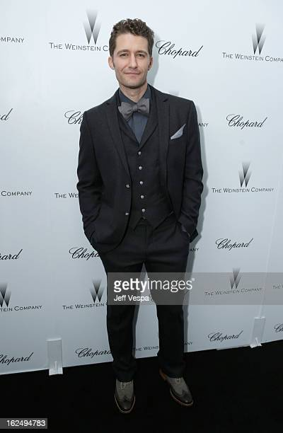 Actor Matthew Morrison attends The Weinstein Company Academy Award Party hosted by Chopard at Soho House on February 23 2013 in West Hollywood...