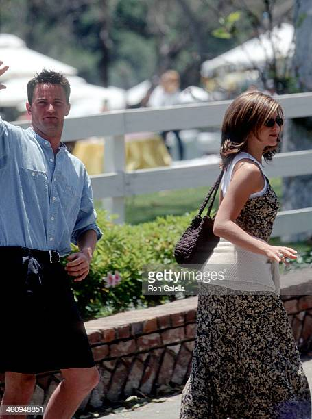 Actor Matthew Perry and actress Jennifer Aniston attend the Sixth Annual 'A Time for Heroes' Celebrity Carnival to Benefit the Elizabeth Glaser...