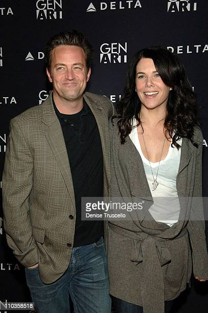 Actor Matthew Perry and actress Lauren Graham attend the 'Pretty Bird' Party at the 360 Sky Delta Lounge on January 20 2008 in Park City Utah