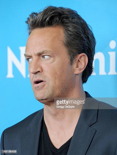 Actor Matthew Perry arrives at the 2012 NBC Universal TCA summer press tour at The Beverly Hilton Hotel on July 24 2012 in Beverly Hills California