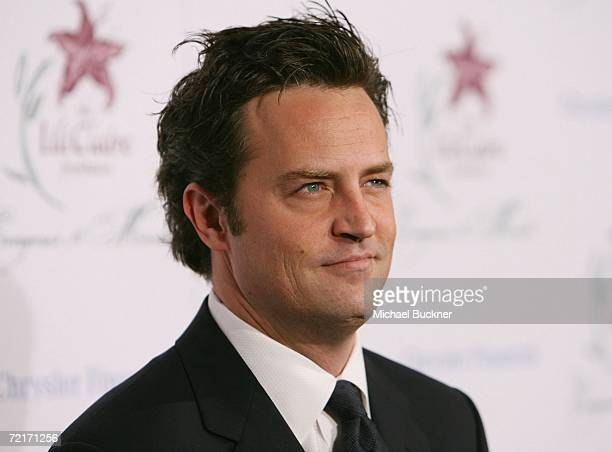 Actor Matthew Perry arrives at the 9th Annual Dinner Benefiting the Lili Claire Foundation at the Beverly Hilton Hotel on October 14 2006 in Beverly...