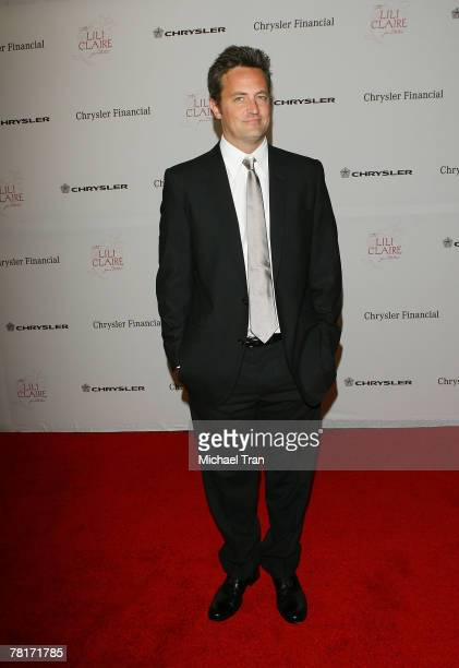 Actor Matthew Perry arrives at The Lili Claire Foundation 10th Annual Dinner and Auction at the Hyatt Regency Plaza Hotel on October 13 2007 in Los...