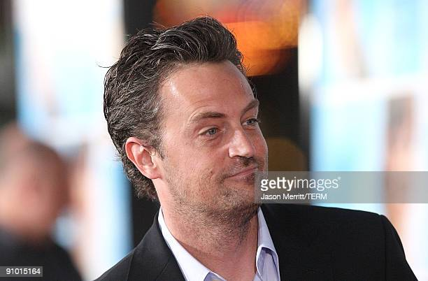 Actor Matthew Perry arrives at the premiere of Warner Bros The Invention of Lying on September 21 2009 in Los Angeles California