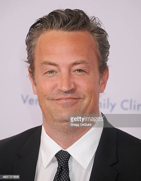Actor Matthew Perry arrives at Venice Family Clinic's 33rd Annual Silver Circle Gala at the Beverly Wilshire Four Seasons Hotel on March 9 2015 in...