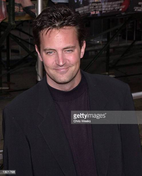 Actor Matthew Perry arrives for the premiere of Me Myself Irene June 15 2000 in Los Angeles CA