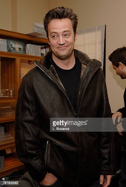Actor Matthew Perry at the Hollywood Life House on January 21 2008 in Park City Utah