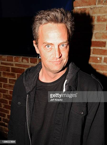 Actor Matthew Perry attends HBO's Season 3 Premiere Of Eastbound And Down at Room 86 on February 9 2012 in Hollywood California