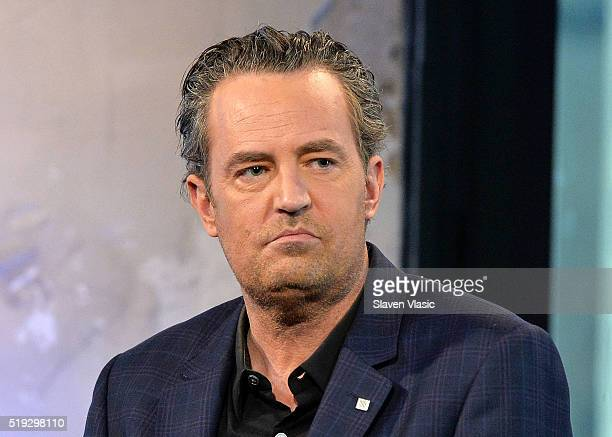 Actor Matthew Perry discusses season 2 of his CBS show The Odd Couple at AOL Build at AOL Studios In New York on April 5 2016 in New York City