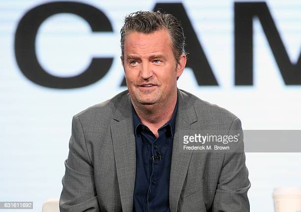 Actor Matthew Perry of the television show 'The Kennedys - After Camelot' speaks onstage during the REELZChannel portion of the 2017 Winter...