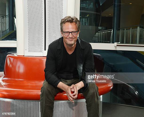 Actor Matthew Perry rides the High Roller at The LINQ Promenade on June 11 2015 in Las Vegas Nevada