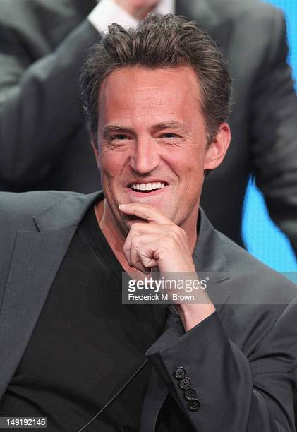 Actor Matthew Perry speaks onstage at the 'Go On' panel during day 4 of the NBCUniversal portion of the 2012 Summer TCA Tour held at the Beverly...