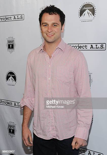 Actor Matthew Rhys arrives at the Project ALS LA Benefit hosted by Ben Stiller Friends at Lucky Strike Bowling Alley on April 21 2010 in Hollywood...