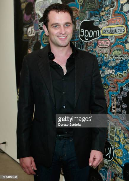 Actor Matthew Rhys attends a dinner hosted by Vogue and Mulberry celebrating the work of Alexandra Grant on display at the 'Some Paintings'...
