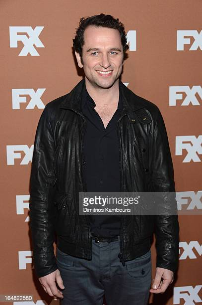 Actor Matthew Rhys attends the 2013 FX Upfront Bowling Event at Luxe at Lucky Strike Lanes on March 28 2013 in New York City