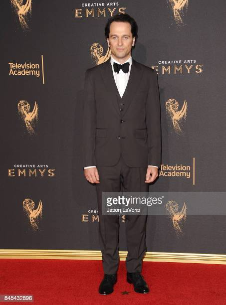 Actor Matthew Rhys attends the 2017 Creative Arts Emmy Awards at Microsoft Theater on September 10 2017 in Los Angeles California