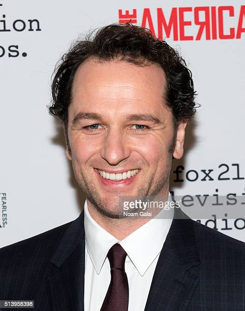 Actor Matthew Rhys attends 'The Americans' season 4 premiere on March 5 2016 in New York City