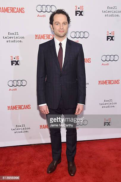 Actor Matthew Rhys attends the The Americans season 4 premiere on March 5 2016 in New York City