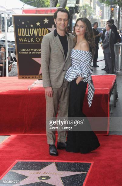 Actor Matthew Rhys with Actress Keri Russell at Keri Russell 's Star Ceremony held on the Hollywood Walk of Fame on May 30 2017 in Hollywood...