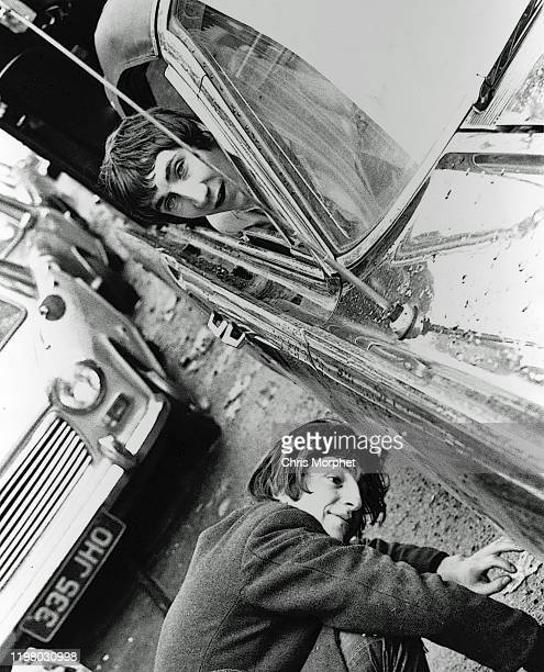 Actor Matthew Scurfield and Pete Townshend of The Who during the making of the film 'The Lone Ranger' London 1968