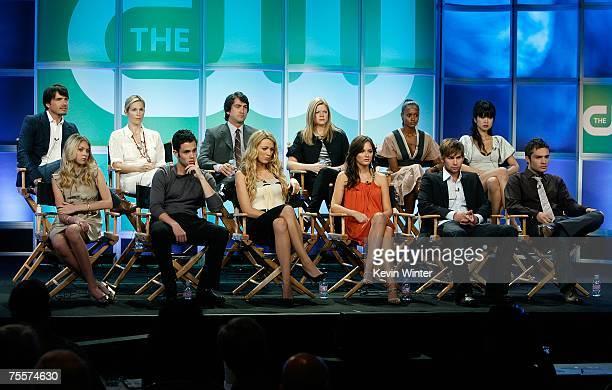 Actor Matthew Settle actress Kelly Rutherford executive producer Josh Schwartz executive producer Stephanie Savage actresses Nicole Fischella Nan...