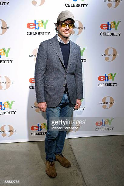 Actor Matthew Settle attends eBay Celebrity and Brad Pitt's Make It Right Celebrate PopUp Gallery Exhibition at Chelsea Market on February 8 2012 in...