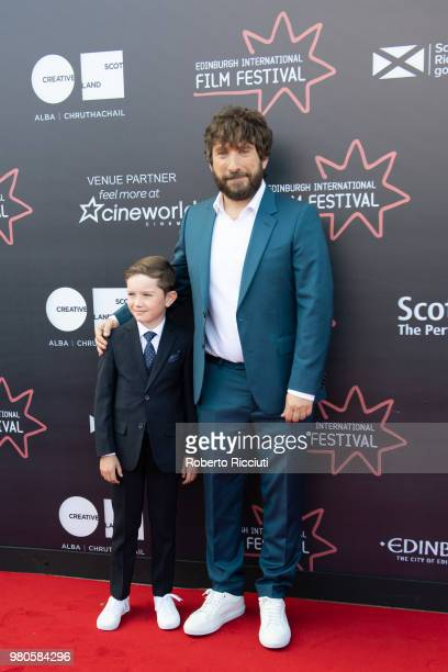 Actor Matthew Stagg and director Sergio G Sanchez attend a photocall for the UK Premiere of 'The Secret of Marrowbone' during the 72nd Edinburgh...