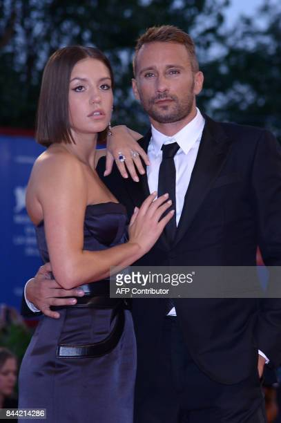 Actor Matthias Schoenaerts and actress Adele Exarchopoulos attend the premiere of the movie Racer And The Jailbird presented out of competition at...