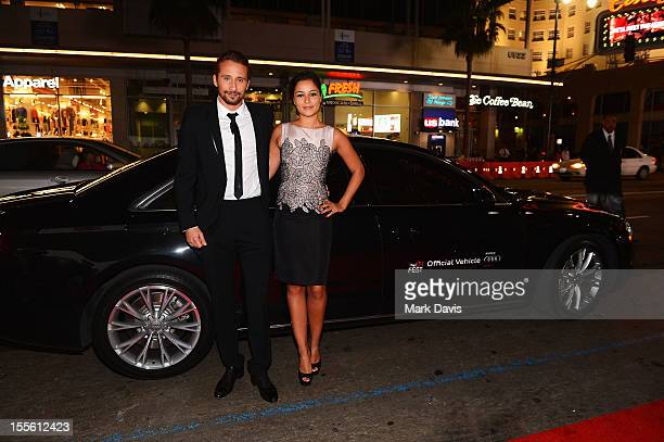 Actor Matthias Schoenaerts and Alexandra Schouteden arrive at the gala premiere of 'Rust and Bone' during the 2012 AFI Fest presented by Audi at...