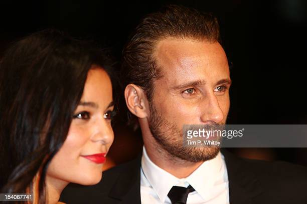 Actor Matthias Schoenaerts and Alexandra Schouteden attend the premiere of 'Rust and Bone' during the 56th BFI London Film Festival at Odeon West End...