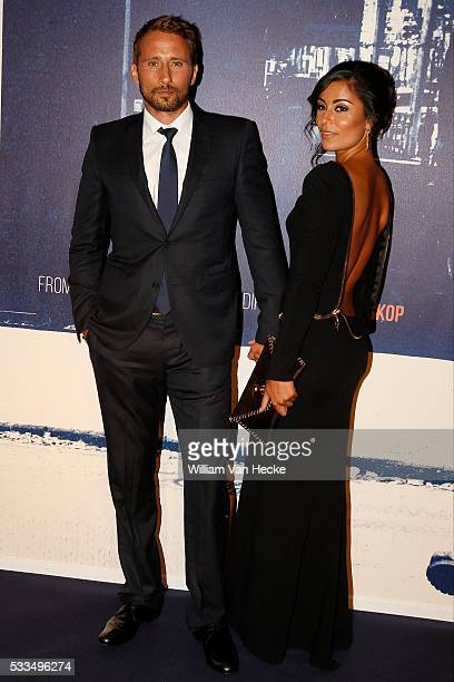 Actor Matthias Schoenaerts and his girlfriend Alexandra Schouteden pictured at the premiere of the movie 'The Drop' at De Brouckere in Brussels