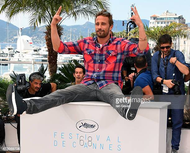 Actor Matthias Schoenaerts attends a photocall for Disorder during the 68th annual Cannes Film Festival on May 16 2015 in Cannes France