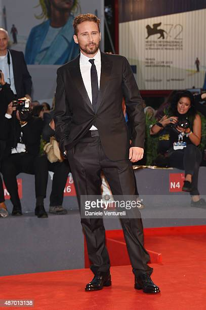 Actor Matthias Schoenaerts attends a premiere for 'The Danish Girl' during the 72nd Venice Film Festival at on September 5 2015 in Venice Italy
