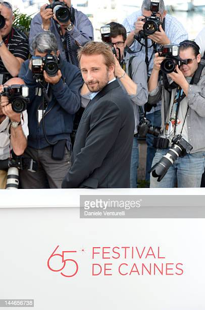 Actor Matthias Schoenaerts attends the De Rouille et D'os Photocall during the 65th Annual Cannes Film Festival at Palais des Festivals on May 17...