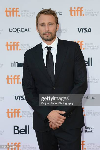 Actor Matthias Schoenaerts attends 'The Drop' premiere during the 2014 Toronto International Film Festival at Princess of Wales Theatre on September...