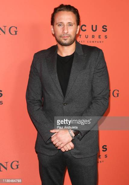 Actor Matthias Schoenaerts attends the premiere of The Mustang at ArcLight Hollywood on March 12 2019 in Hollywood California
