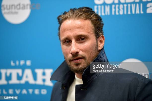 Actor Matthias Schoenaerts attends the The Mustang Premiere during the 2019 Sundance Film Festival at Eccles Center Theatre on January 31 2019 in...